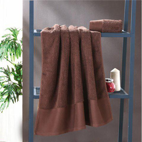 Combed Cotton Towel Set Come with 1 Washcloth 1 Hand Towel 1 Bath Towel - COFFEE 3PCS