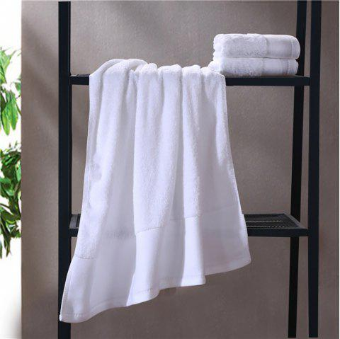 Combed Cotton Towel Set Come with 1 Washcloth 1 Hand Towel 1 Bath Towel - WHITE 3PCS