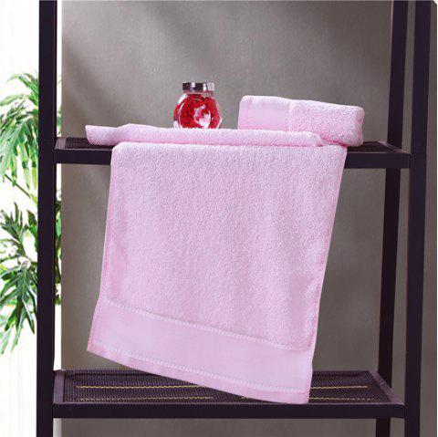 Combed Cotton Towel Set Come with 1 Washcloth 1 Hand Towel 1 Bath Towel - LIGHT PINK 3PCS