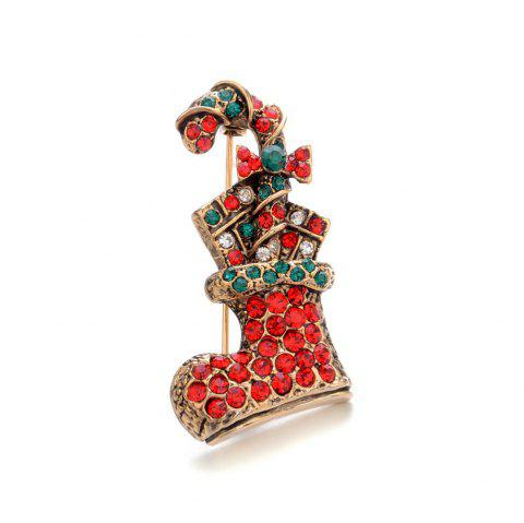 New Year'S Christmas boots Brooch - multicolor A 4CM*2CM