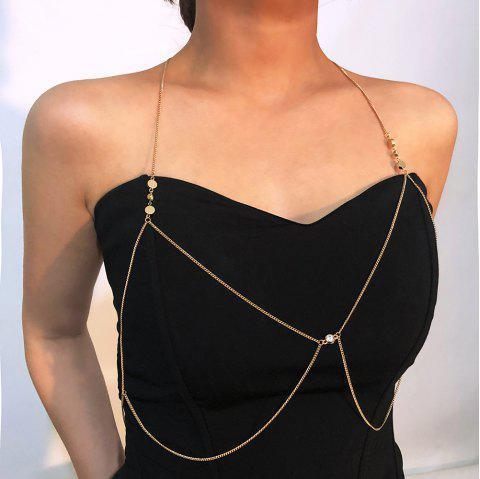 Simple Personality Sexy Beach Body Chain - GOLD 1PC