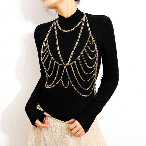 Personality Simple Exaggerated Chain Tassel Body Chain - GOLD 1PC