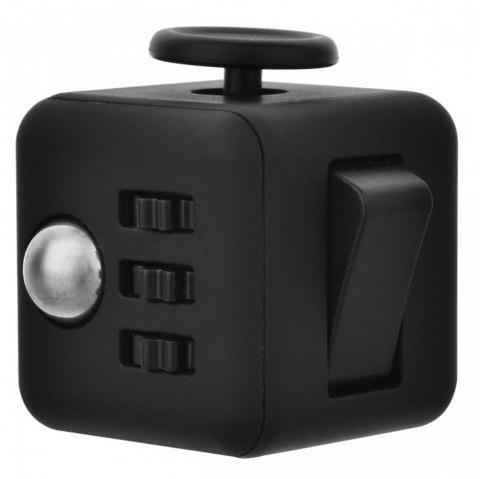 Minismile Updated Version Release Stress Fidget Dice Cubic Toy for Focusing - BLACK