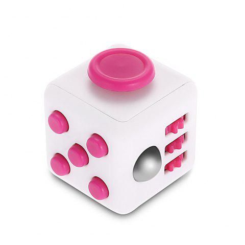 Minismile Version mise à jour Libération du stress Fidget Dice Cubic Toy - multicolor E