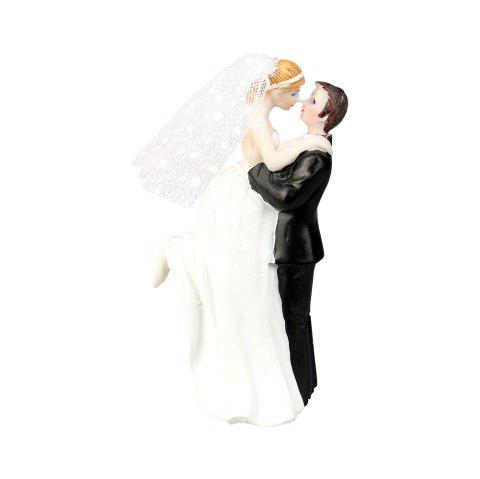 New Happiness Bride and Groom Cake Topper Decorate - WHITE
