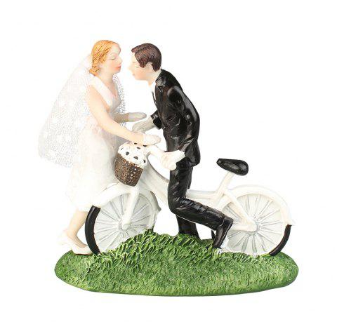 Nouveau gâteau Cake Topper Broom Bride and Groom Décorer - Blanc