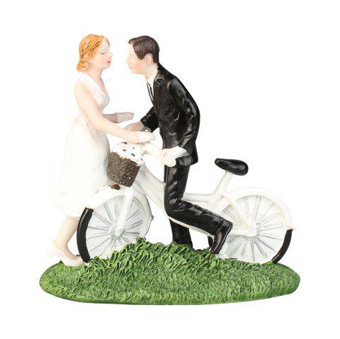 Nouveau gâteau Cake Topper Bicycle Bride and Groom Décorer-A - Blanc