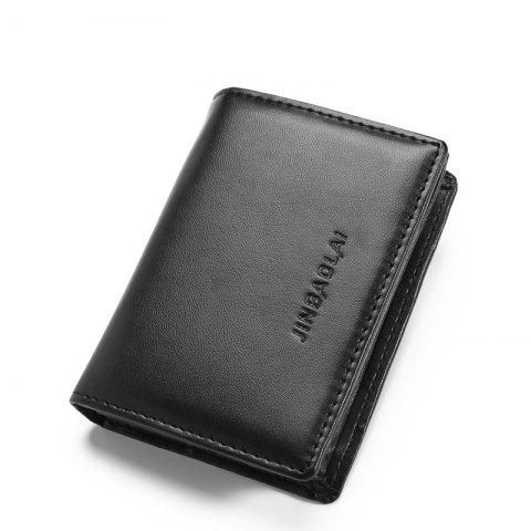 Primely Credit Card Wallet for Women Plain PU Skin Man Card Package Card Sets - BLACK