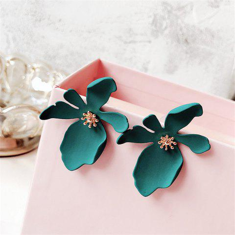 Fashion Simple Daisy Flower Petals Earrings - GREEN 1 PAIR