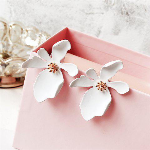 Fashion Simple Daisy Flower Petals Earrings - WHITE 1 PAIR