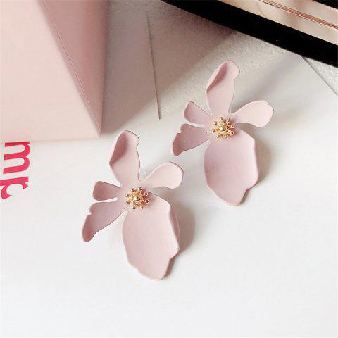 Fashion Simple Daisy Flower Petals Earrings - PINK 1 PAIR