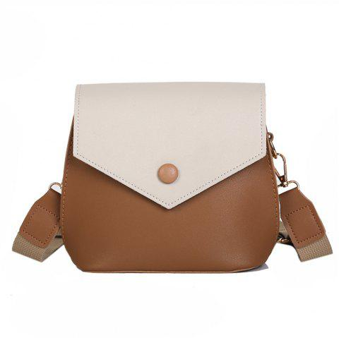 Casual PU Ladies Messenger Bag Sac à bandoulière tendance - Beige REGULAR