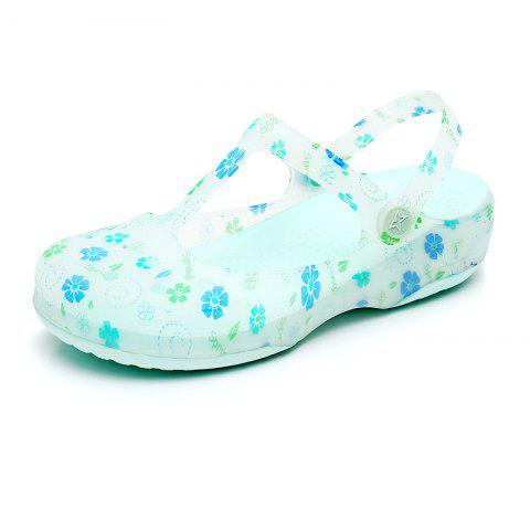 Hole Shoe Girl Summer Sandal Girl Garden Jell-O Beach Cool Slippers - GREEN EU 38