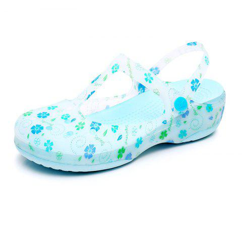 Hole Shoe Girl Summer Sandal Girl Garden Jell-O Beach Cool Slippers - SKY BLUE EU 39