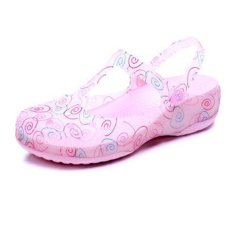 Cool Slippers Female Color Holes Shoes - PINK EU 35