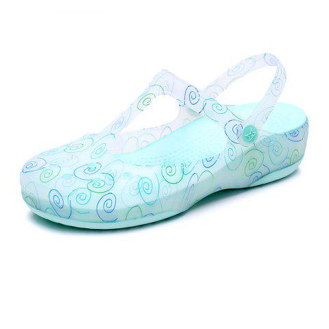Cool Slippers Female Color Holes Shoes - GREEN EU 37