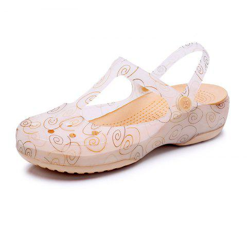 Cool Slippers Female Color Holes Shoes - GOLD EU 36