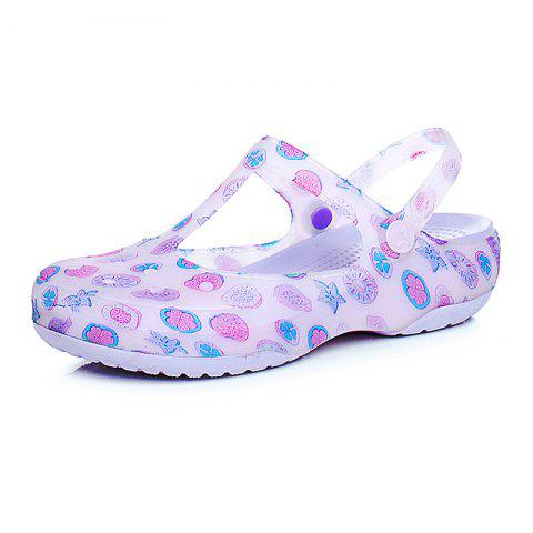 Summer Discoloration Anti-Slip Female Hole Shoes - PURPLE EU 37