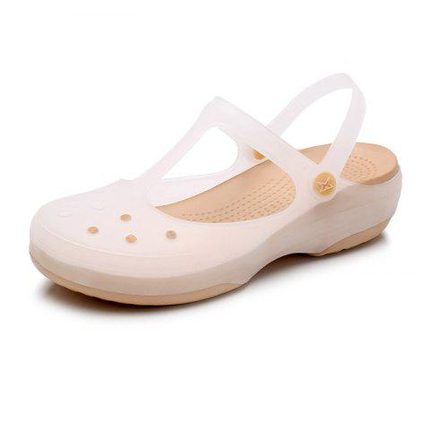 Jelly Non-Slippery Beach Hole Shoes - GOLD EU 37