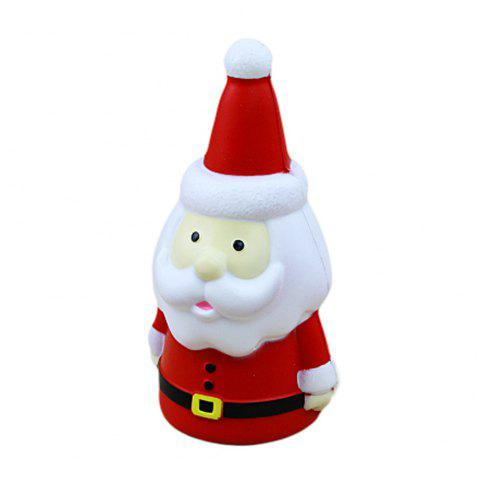 Squishy Red Santa Claus Toys - multicolor