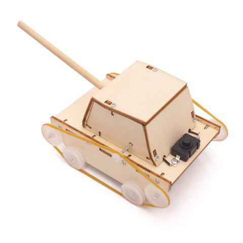 DIY Electric Small Tanks Children Science Education Toy - multicolor