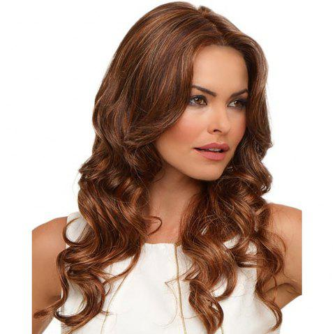 Stylish Sexy Lady Halve Long Curly Hair High Temperature Synthetic Wig - LIGHT BROWN 26INCH