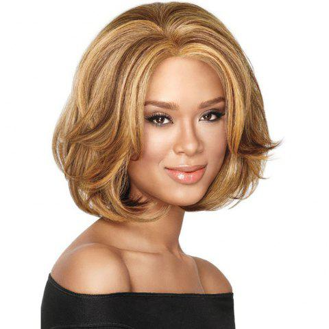 Stylish Sexy Lady Blonde Short Curly Hair High Temperature Synthetic Wig - COPPER 12INCH