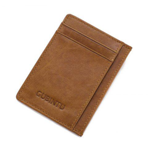 Men with Creative Card Number for Card Bag Contracted Bus Card Sets - BROWN