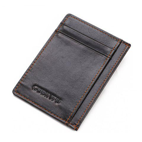 Men with Creative Card Number for Card Bag Contracted Bus Card Sets - DEEP COFFEE