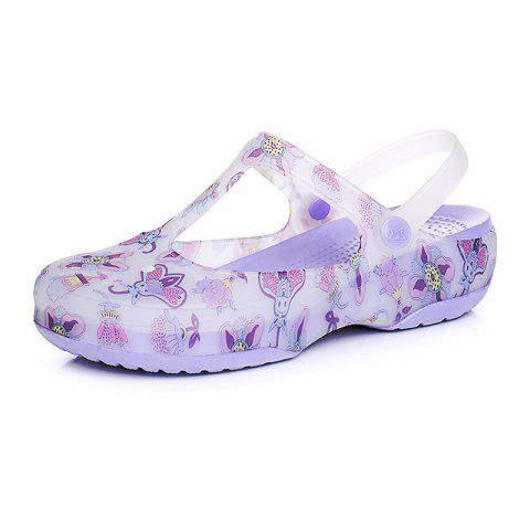 Leisure Beach Women's Cave Cool Slippers - PURPLE EU 35