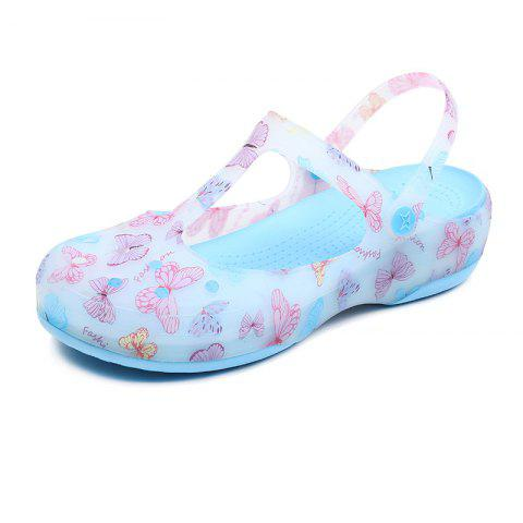 Hole Shoe Girl Garden Cool Drag Girl Sandal - SKY BLUE EU 39