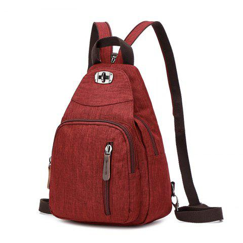 Women's Casual Bag Fashion Backpack - RED WINE