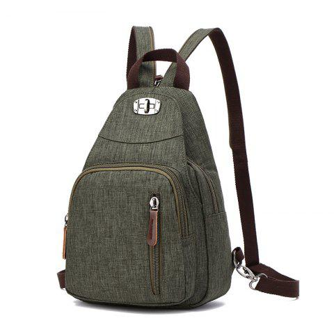 Women's Casual Bag Fashion Backpack - ARMY GREEN