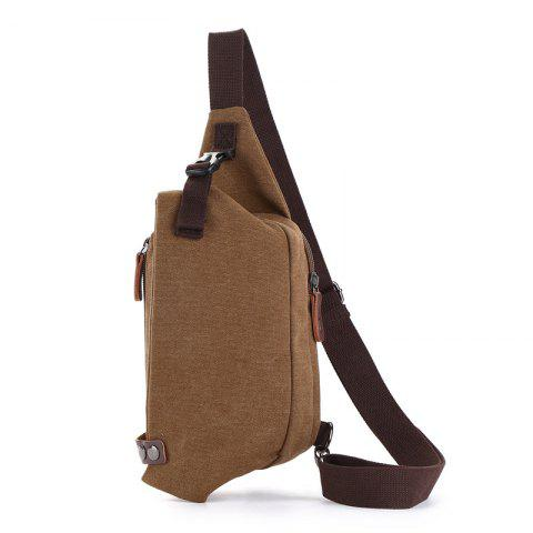 The New Canvas Breast Bag Is Easy To Carry - COFFEE