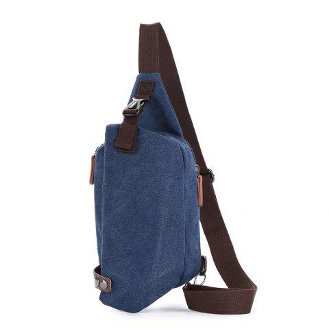 The New Canvas Breast Bag Is Easy To Carry - DEEP BLUE