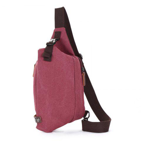 The New Canvas Breast Bag Is Easy To Carry - RED WINE