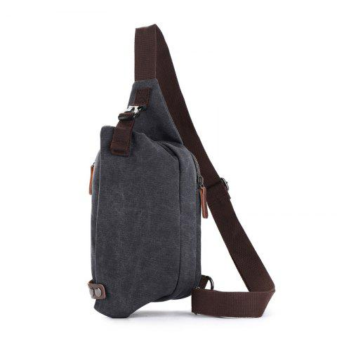 ZUOLUNDUO New Canvas Breast Bag Is Easy To Carry - BLACK