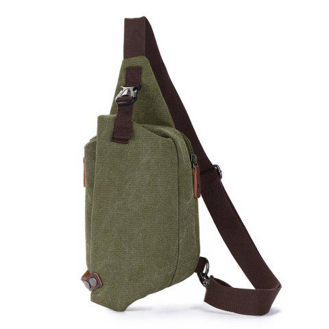 ZUOLUNDUO New Canvas Breast Bag Is Easy To Carry - ARMY GREEN