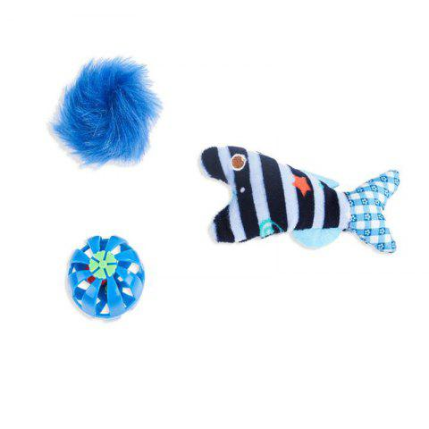 A Three-Piece Grinding Claws Cats Interactive Educational Ideas Mint Small Bell - SKY BLUE