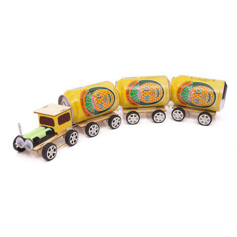 DIY Small Train Children Science Education Toy - multicolor