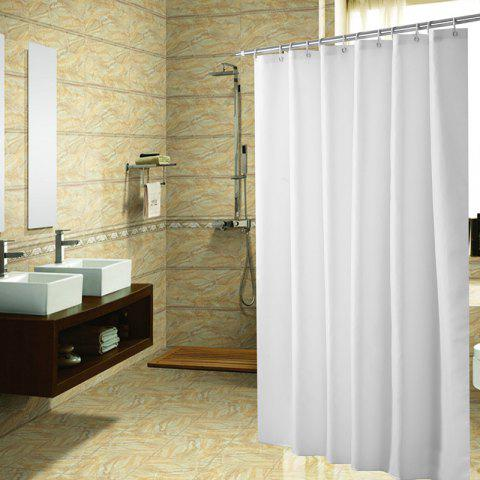 Solid Color Shower Curtain Waterproof Bathroom Partition - WHITE 1*1.8M