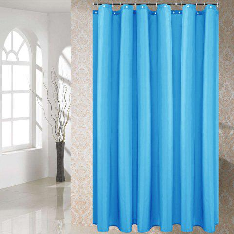 Solid Color Shower Curtain Waterproof Bathroom Partition - LIGHT SKY BLUE 1*1.8M