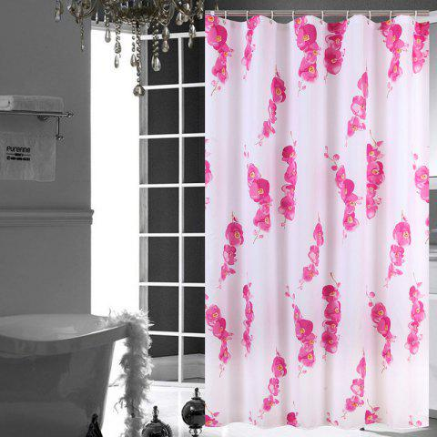 Waterproof Polyester Wax Plum Bathroom Partition Shower Curtain - multicolor 1*1.8M