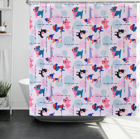 Puppy Polyester Environmentally Friendly Waterproof Shower Curtain - multicolor 1.8*1.8M
