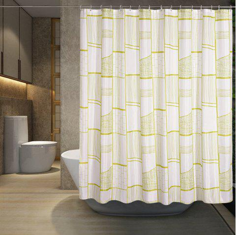 Gongge Bathroom Waterproof Thick Polyester Shower Curtain Printing - multicolor 1.8*1.8M