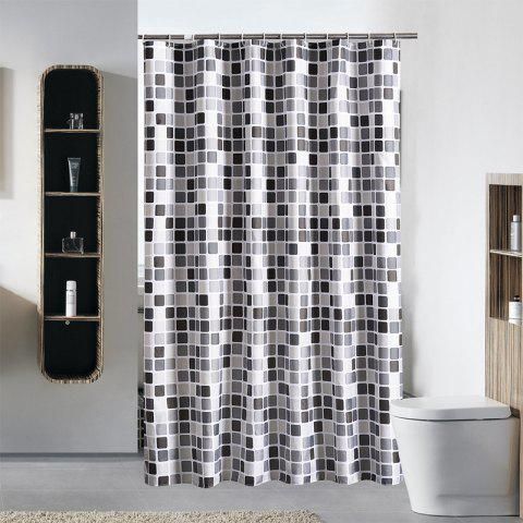 Home Mosaic Shower Curtain Thicken Waterproof Mildproof Polyester - multicolor 1.8*1.8M