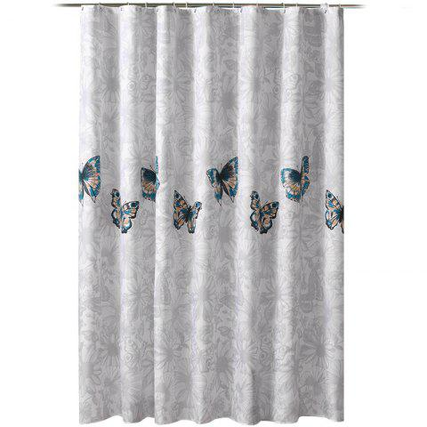 Pansy Thick Waterproof And Mildewproof Polyester Shower Curtain