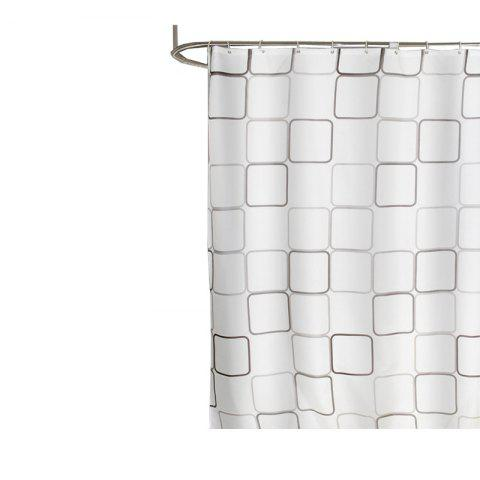 Large Square Polyester Cloth Waterproof Mildew Shower Curtain - multicolor 1.8*1M