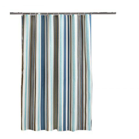 Romantic Striped Home Mildew Polyester Shower Curtain - multicolor 1*2M