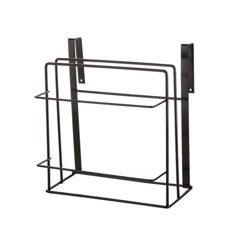 Kitchen Multifunctional Wrought Iron Storage Rack - BLACK